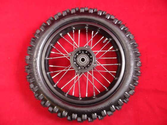 12 FRONT RED RIM WHEEL HONDA SDG